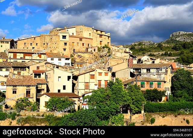 Overlook of the village. Beceite, Matarraña region, Teruel, Aragon, Spain