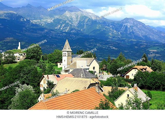 France, Hautes Alpes, Champsaur Valley, Laye, Col Fayard