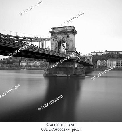Szechenyi Chain Bridge and Danube