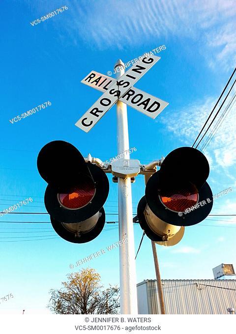 Railroad crossing signal in Washington State, USA