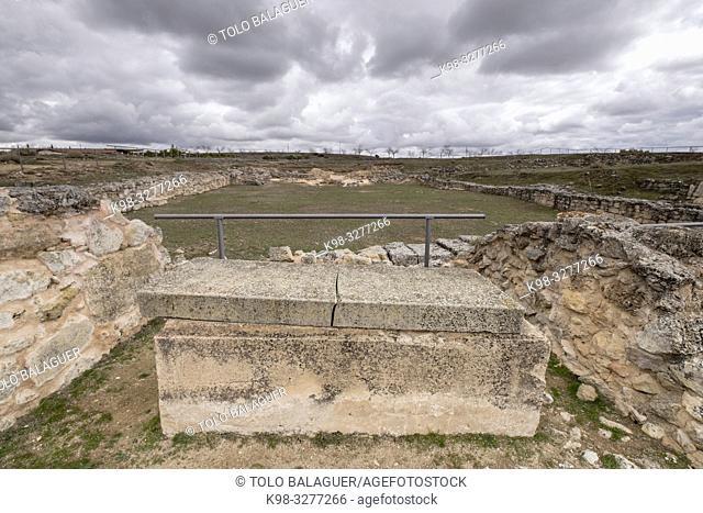 basilica visigoda, parque arqueológico de Segóbriga, Saelices, Cuenca, Castilla-La Mancha, Spain