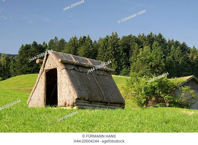 hut of the charcoal burners in Neukirchen in the municipality Teisendorf