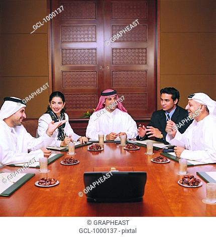 Arab businesspeople in conference