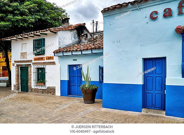 old buildings at Plaza Chorro de Quevedo, Bogota, Colombia, South America - Bogota, Colombia, 31/08/2017