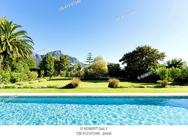 Luxury swimming pool and garden