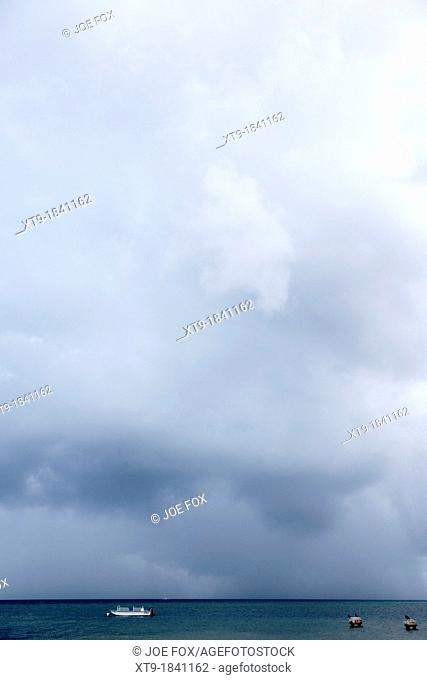 rainstorm thunderstorm storm clouds approaching key west florida usa