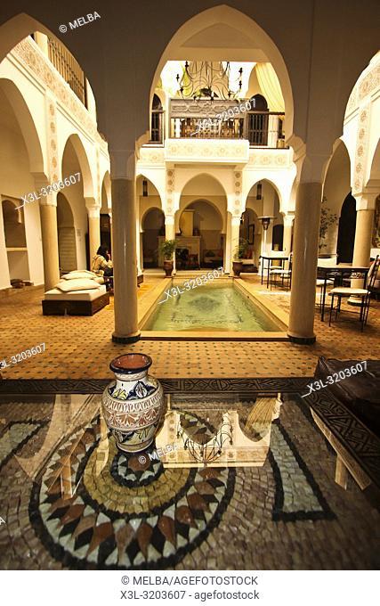 Courtyard, Riad. Marrakech. Morocco
