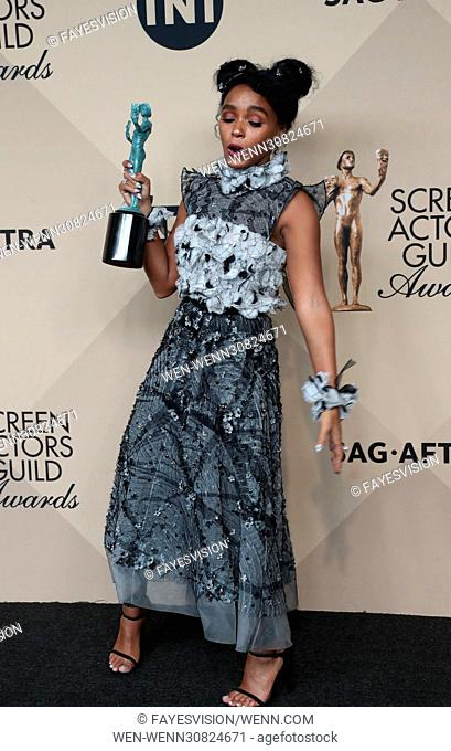 23rd Annual Screen Actors Guild Awards - Press Room Featuring: Janelle Monae Where: Los Angeles, California, United States When: 29 Jan 2017 Credit:...