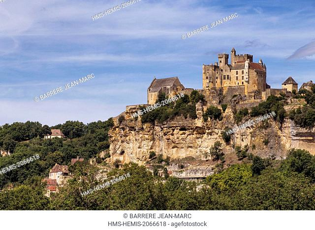 France, Dordogne, Black Perigord, Beynac et Cazenac, labelled The Most Beautiful Villages of France, castle