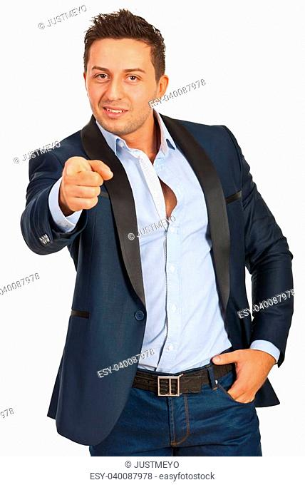 Business man pointing to you:You are the one!