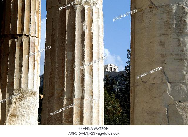 Acropolis Hill seen from Temple of Hephaestus
