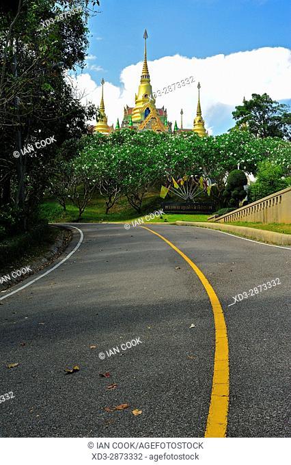 road to Wat Thang Sai, Thang Sai Temple, Ban Krut, Prachuap Khiri Khan Province, Thailand