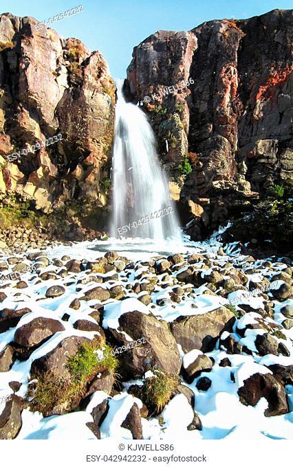 Taranaki Falls in the Tongariro National Park, New Zealand
