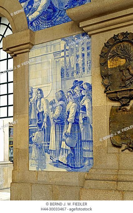 Porto Sao Bento, Bahnhof, Kachelbild