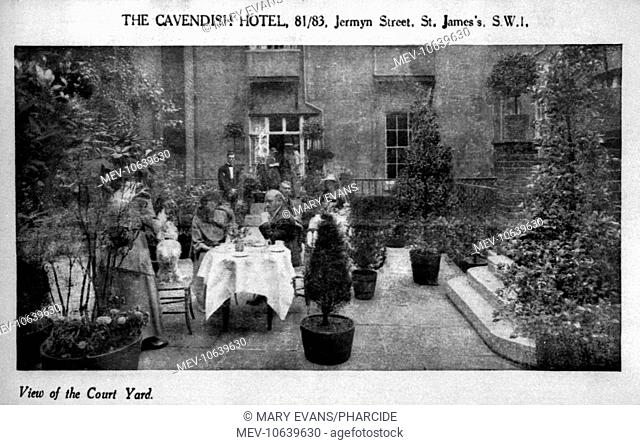 View of the courtyard of the Cavendish Hotel, 81-83 Jermyn Street, London
