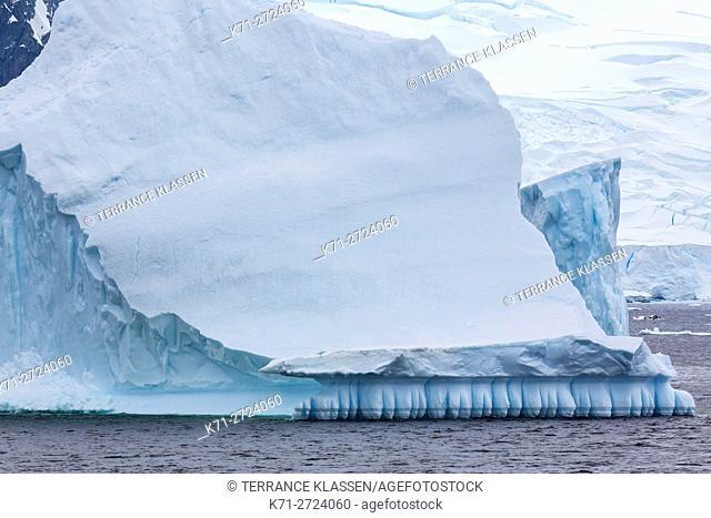 Antarctica, Water sculpted icebergs in Antarctic Peninsula