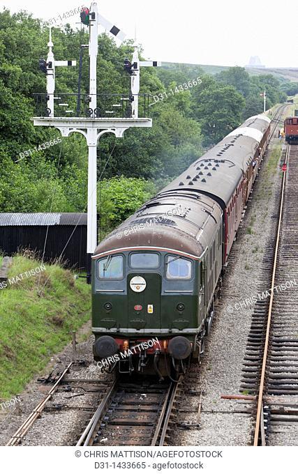 D5061 Bo-B0 Class 24 diesel locomative at Goathland Station, North Yorkshire Moors Railway
