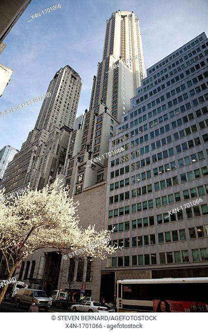 Four Seasons Hotel at 57 E 57th Street in Manhattan, New York City, United States of America