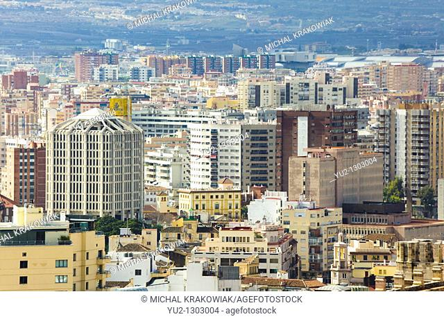 View on Malaga downtown