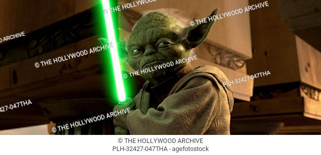 Jedi Master Yoda may be small, but he packs a lot of punch in Star Wars: Episode III Revenge of the Sith. TM & © 2005 Lucasfilm Ltd