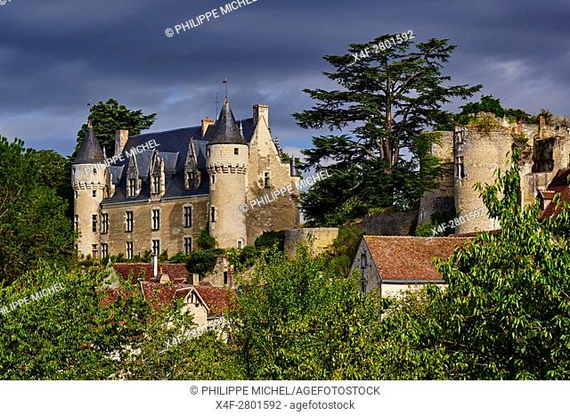 France, Indre-et-Loire (37), Montrésor, classified Les Plus Beaux Villages de France or the Most beautiful villages of France, the castle