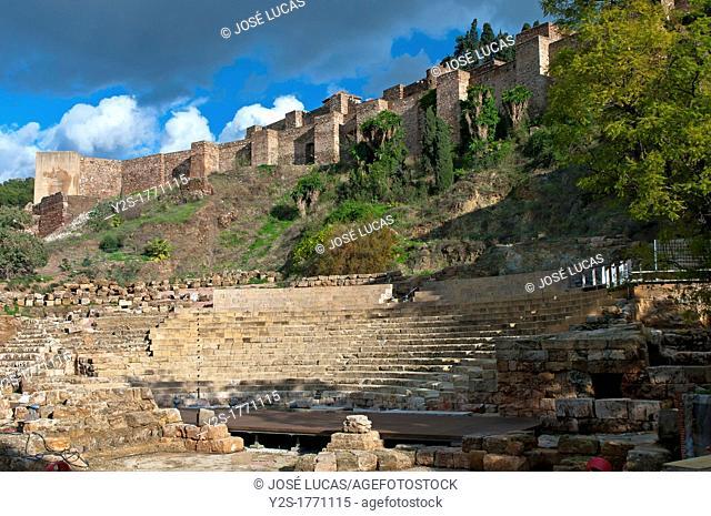 Roman theater and Alcazaba  Malaga  Spain