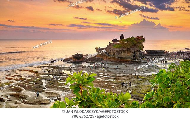 Tanah Lot Temple at sunset, Bali, Indonesia