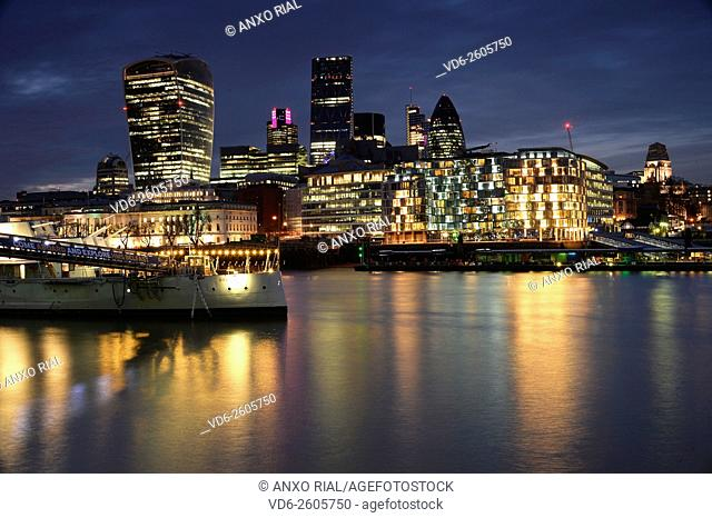 United Kingdom (Great Britain). England. London and River Thames