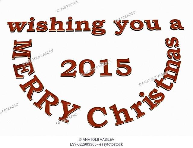 3d text wishing you Merry Cristmas