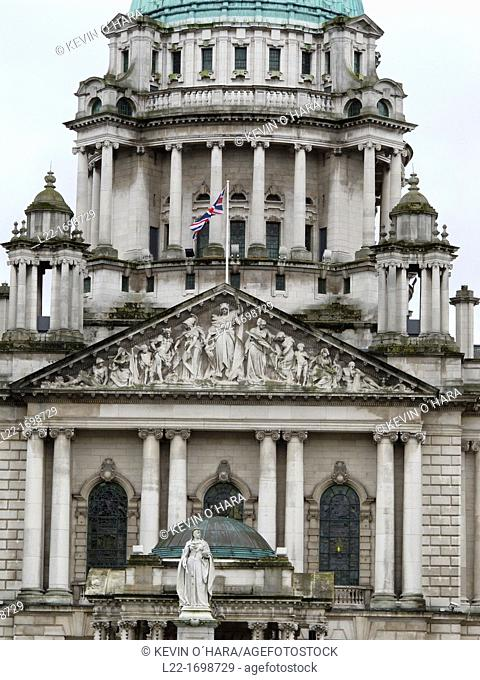 The City Hall  Belfast city  County Antrim  Ulster  Northern Ireland  United Kingdom