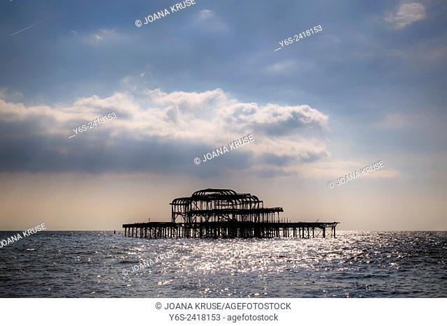 West Pier, Brighton, Sussex, England, United Kingdom