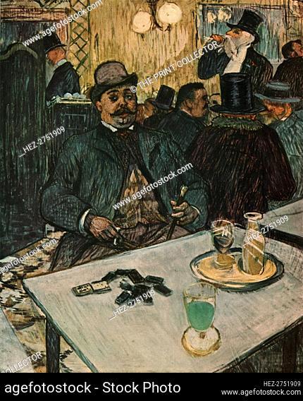 'Monsieur Boileau at the Café', 1893, (1952). Creator: Henri de Toulouse-Lautrec