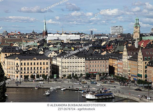 From the Sodermalm district, view of Gamla Stan in Stockholm, Sweden