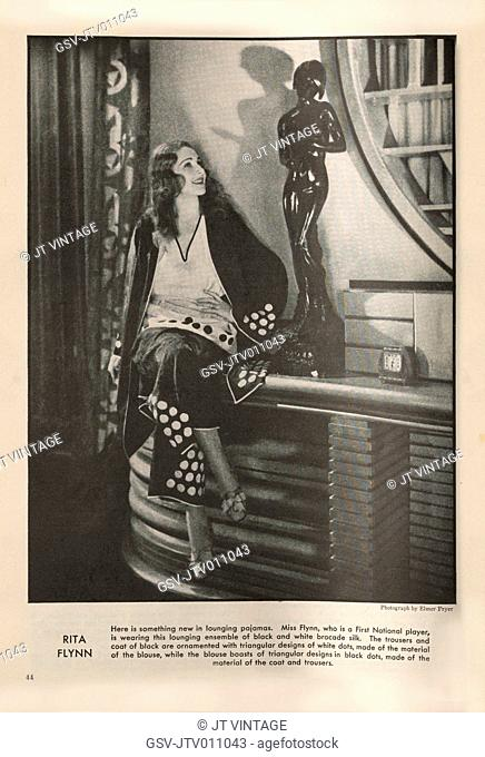 Actress Rita Flynn, Publicity Portrait inside The New Movie Magazine, May 1930
