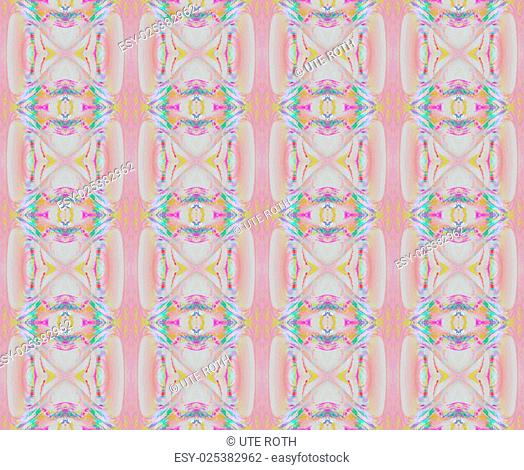Abstract geometric retro background, seamless diamond pattern in pastel colours