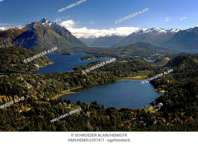 Argentina, Rio Negro province, San Carlos de Bariloche, general view, usually known as Bariloche, it is a city situated in the foothills of the Andes