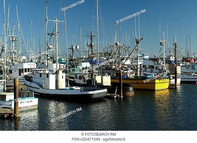 Crescent City, CA, California, Pacific Ocean, Crescent City Harbor, fishing boats