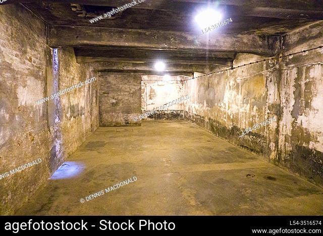 Basement Auschwitz Birkenau Concentration Camp OŠ›wiÄ. cim Museum Southern Poland Europe EU UNESCO