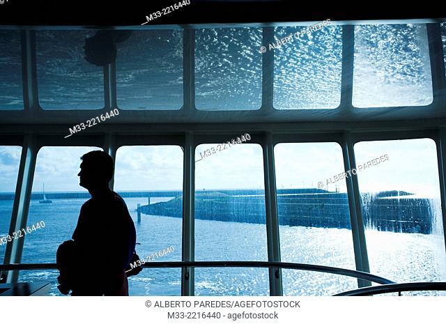 Ferry, Friesland province (Fryslan), Netherlands