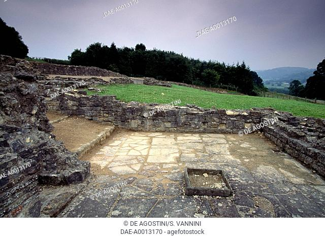 Ruins of the Great Witcombe Roman Villa, Gloucestershire, England, United Kingdom. Roman civilisation, 250