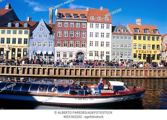 Nyhavn channel. Copenhaguen. Denmark