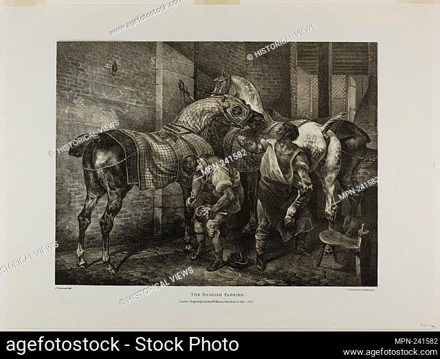 The English Farrier, plate 10 from Various Subjects Drawn from Life on Stone - 1821 - Jean Louis André Théodore Géricault (French