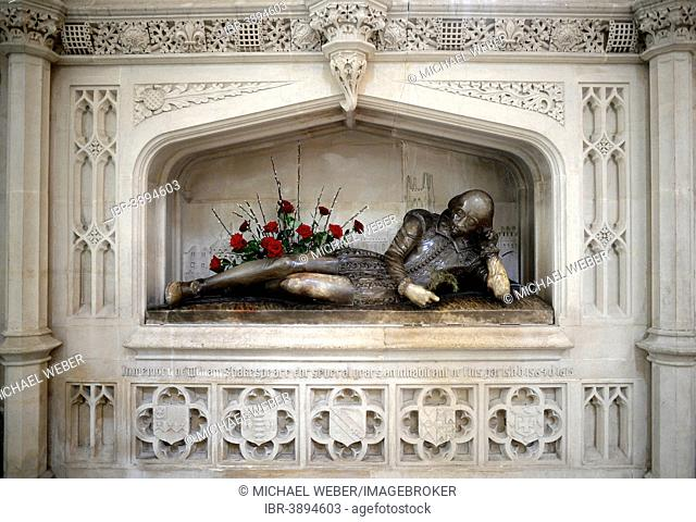 Shakespeare Memorial, Southwark Cathedral, interior view, London, England, United Kingdom
