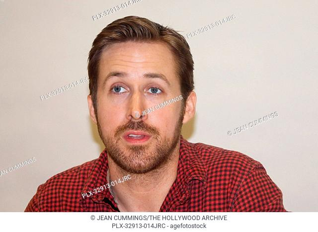 Ryan Gosling at The Nice Guys Press Conference held on May 9, 2016 at the Beverly Hilton Hotel in Beverly Hills, California