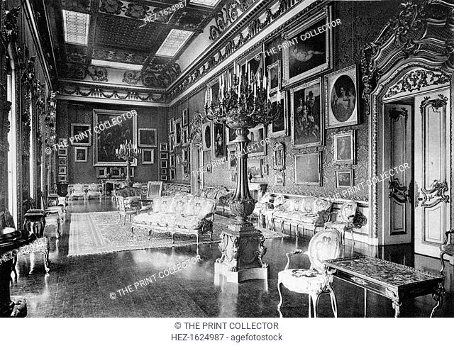 The Waterloo Chamber, Apsley House, 1908. Apsley House, known as 'No 1, London', was the home of the Duke of Wellington. A photograph from The Private Palaces...