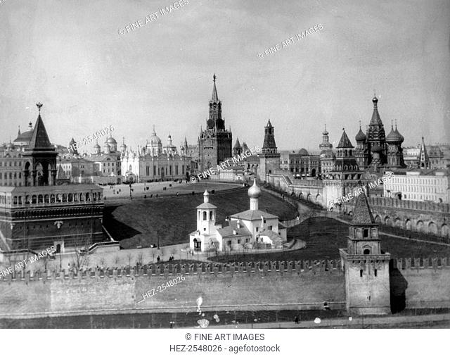 View of the Moscow Kremlin from the Moskva River, Russia, c1908-c1910. Found in the collection of the Russian State Film and Photo Archive, Krasnogorsk