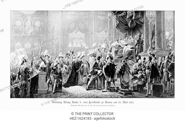 The coronation of King Charles X of France, Reims, 20 May 1825 (1900). The brother of Louis XVI and Louis XVIII, Charles (1757-1836) came to the throne in...