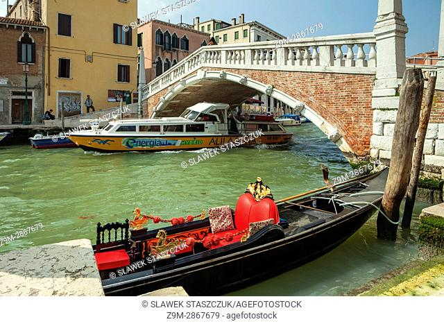 A canal in Cannaregio district of Venice, Italy