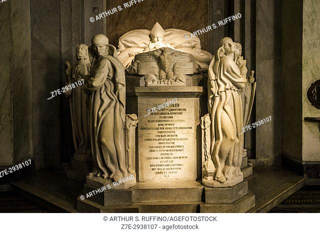 Tomb of Mariano Soler, first archbishop of Montevideo, Montevideo Metropolitan Cathedral (Catedral Metropolitana de Montevideo)