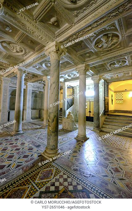 The Naples Cathedral crypt, Succorpo Chapel, Naples, Italy, Europe